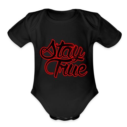 Stay True - Organic Short Sleeve Baby Bodysuit