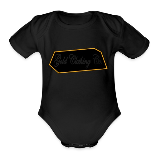 GOLD Clothing Co. Brick Logo - Organic Short Sleeve Baby Bodysuit