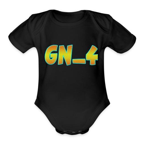 GamingNerd_4 - Organic Short Sleeve Baby Bodysuit
