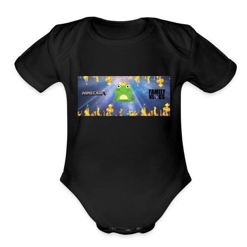 froggeyking10 - Organic Short Sleeve Baby Bodysuit