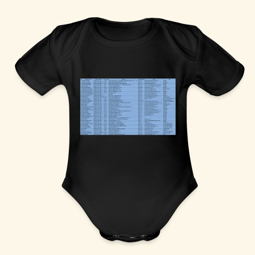 data entry with excel99 - Organic Short Sleeve Baby Bodysuit
