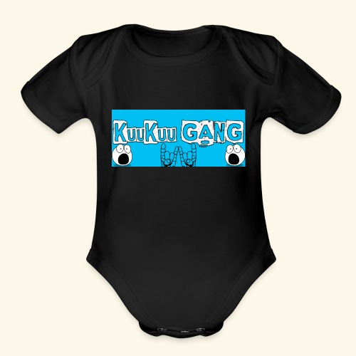 kuukuu gang blue - Organic Short Sleeve Baby Bodysuit