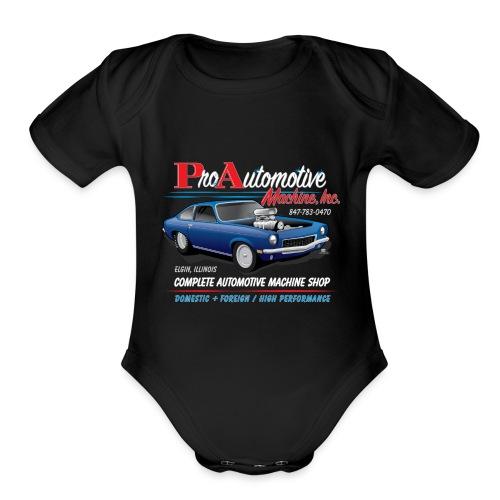 ProAutoTeeDesign062317fin - Organic Short Sleeve Baby Bodysuit