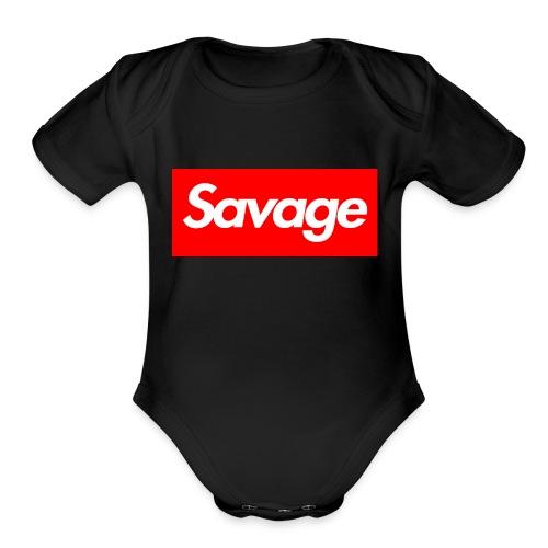 savage - Organic Short Sleeve Baby Bodysuit