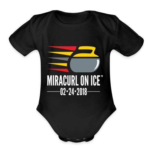 Miracurl On Ice Celebration - Organic Short Sleeve Baby Bodysuit