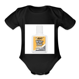 Traditional White Out Tee - Short Sleeve Baby Bodysuit
