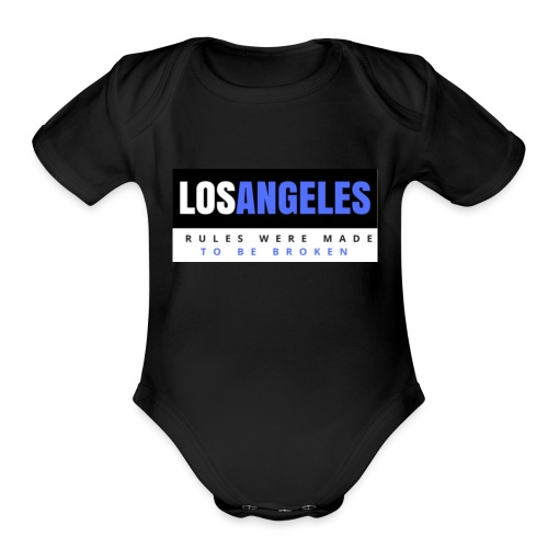 LOS ANGELES - Organic Short Sleeve Baby Bodysuit