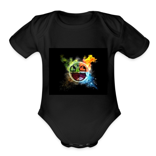 Smiley seasons - Organic Short Sleeve Baby Bodysuit