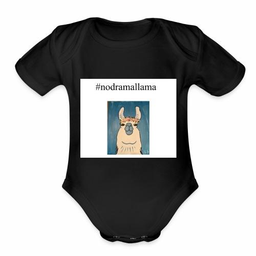 nodramallama - Organic Short Sleeve Baby Bodysuit
