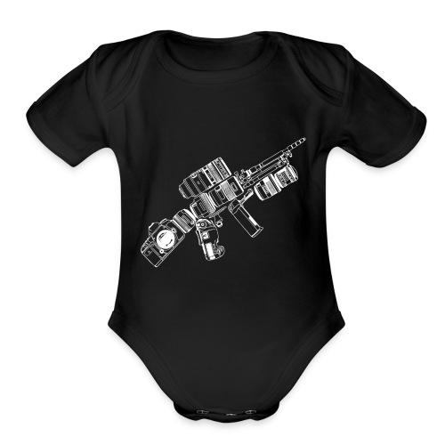 CAMERA Photography Tactical - Organic Short Sleeve Baby Bodysuit