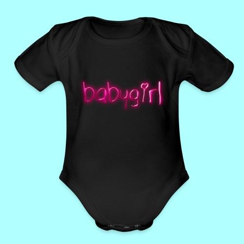 babygirl - Organic Short Sleeve Baby Bodysuit