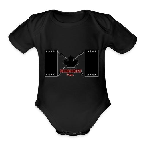 slumadian-black - Organic Short Sleeve Baby Bodysuit