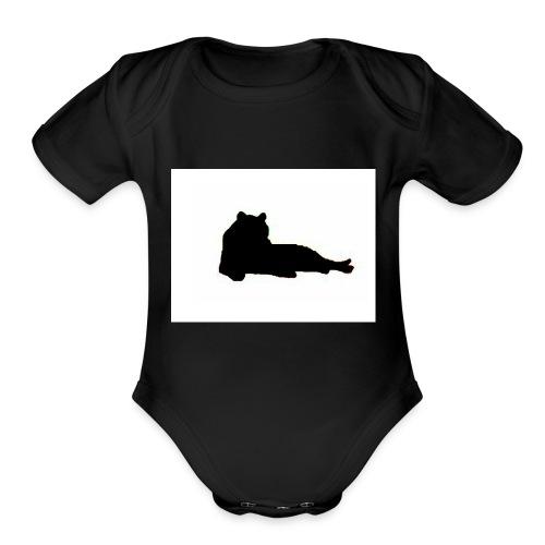tiggers_noir - Organic Short Sleeve Baby Bodysuit