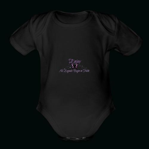 Enjay's Logo - Organic Short Sleeve Baby Bodysuit