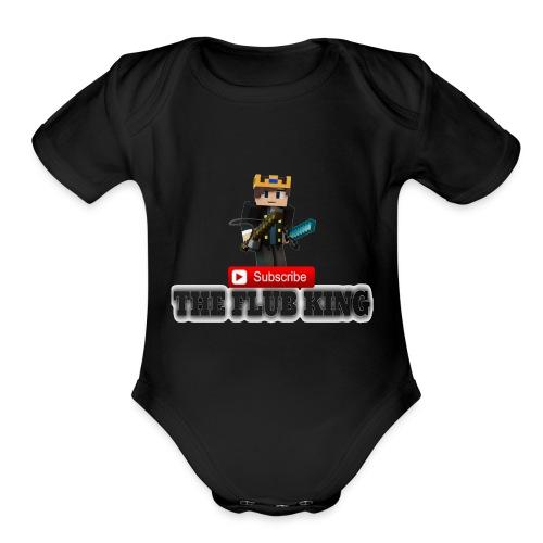 Flub King Gaming!!! - Organic Short Sleeve Baby Bodysuit