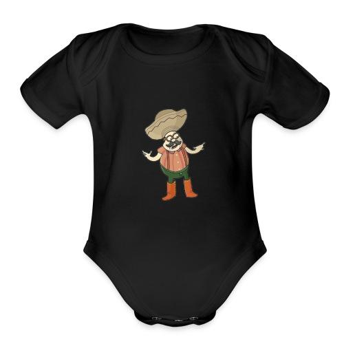 TriggerJesus Basic Logo - Organic Short Sleeve Baby Bodysuit