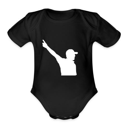 Tour Sauce silhouette - Organic Short Sleeve Baby Bodysuit