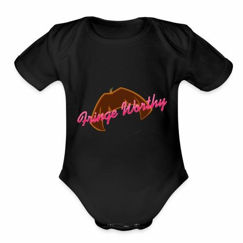 Fringe WorthyCases - Organic Short Sleeve Baby Bodysuit