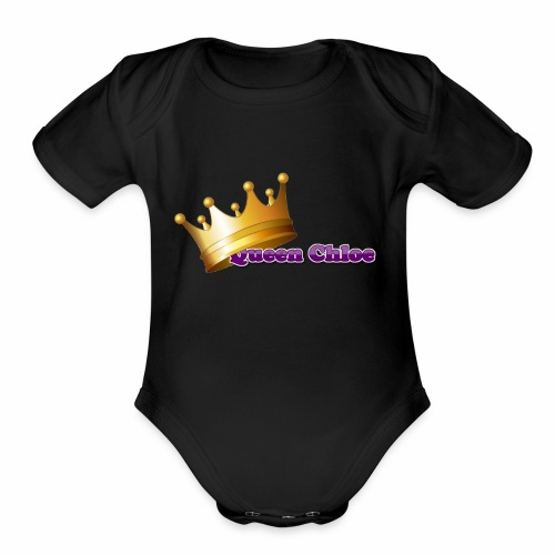 Queen Chloe - Organic Short Sleeve Baby Bodysuit