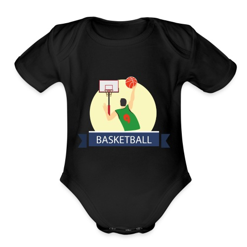 Basketball - Organic Short Sleeve Baby Bodysuit