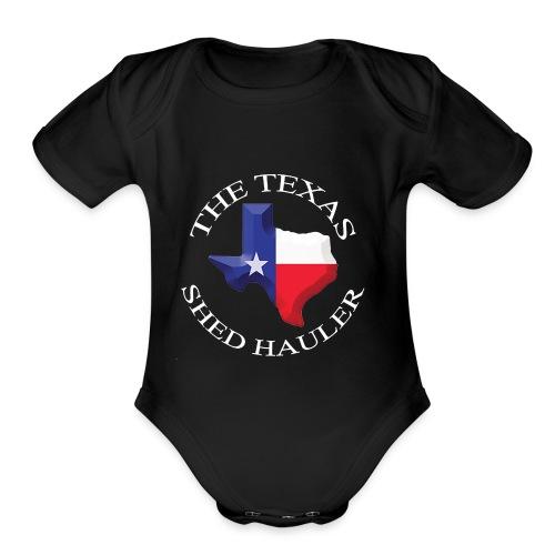 The Texas Shed hauler - Organic Short Sleeve Baby Bodysuit