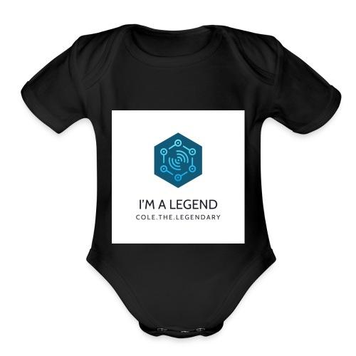 I'm a legend - Organic Short Sleeve Baby Bodysuit