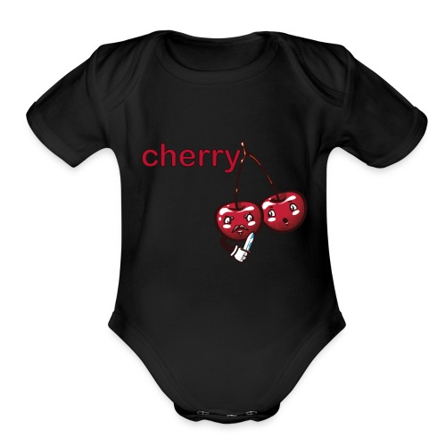 cherry - Organic Short Sleeve Baby Bodysuit
