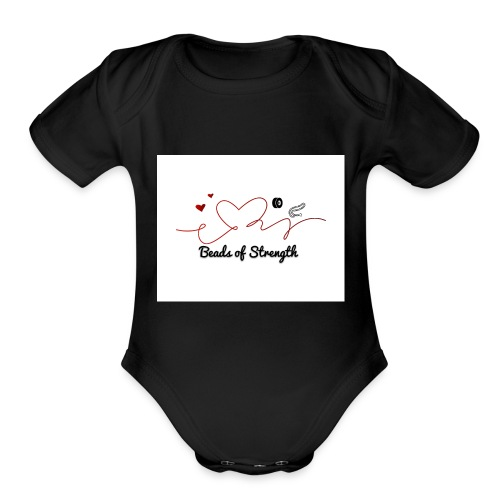 Beads of Strength Logo - Organic Short Sleeve Baby Bodysuit