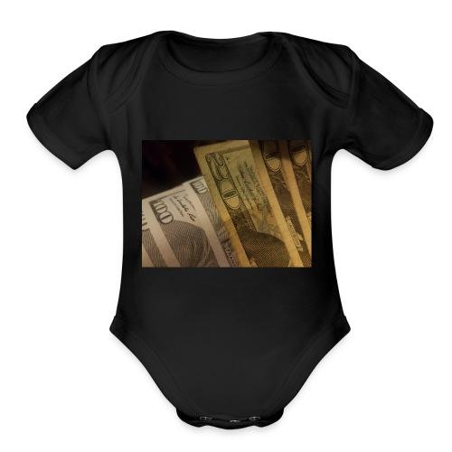 Money is Elixir - Organic Short Sleeve Baby Bodysuit