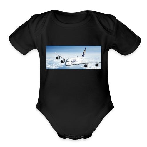 Lufthansa - Organic Short Sleeve Baby Bodysuit
