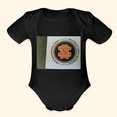 north daviess - Organic Short Sleeve Baby Bodysuit