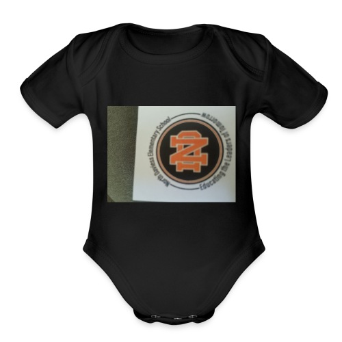 north daviess - Organic Short Sleeve Baby Bodysuit