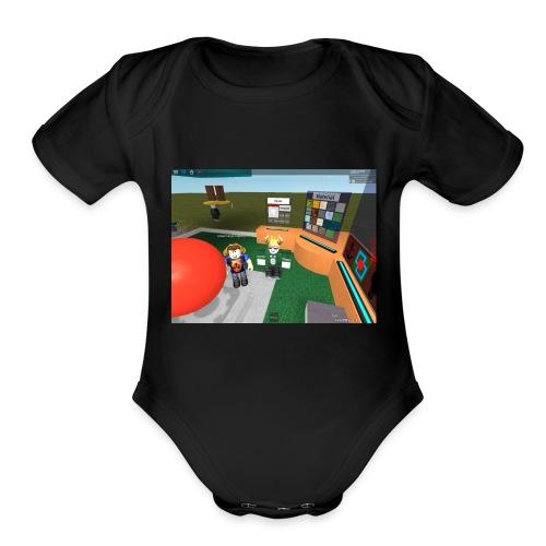 LowlyLucas65102 Roblox Avatar - Organic Short Sleeve Baby Bodysuit