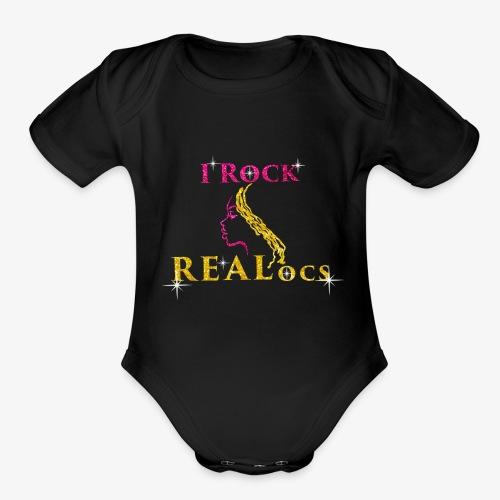 I Rock REALocs - Organic Short Sleeve Baby Bodysuit