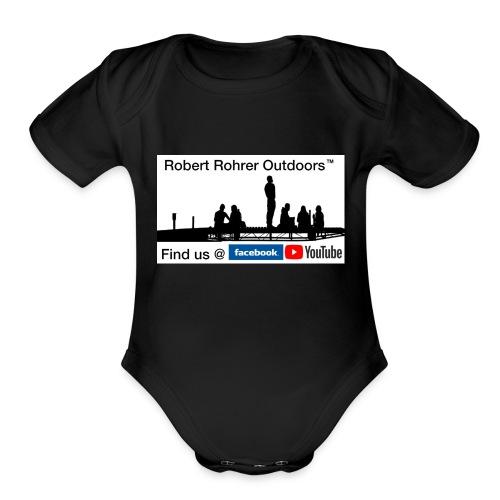 Robert Rohrer Outdoors Fishing - Organic Short Sleeve Baby Bodysuit