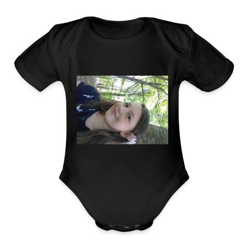 The meowjical caticorns shirt - Organic Short Sleeve Baby Bodysuit