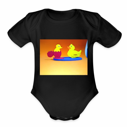 canva photo editor 2 - Organic Short Sleeve Baby Bodysuit
