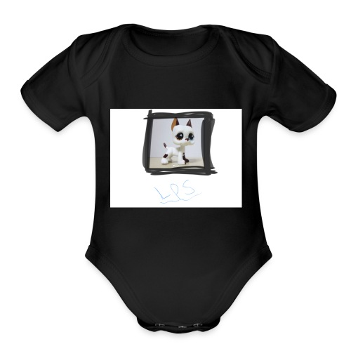 LPS candyy's lps great dane - Organic Short Sleeve Baby Bodysuit