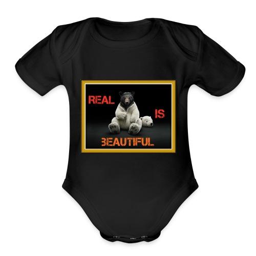 De-bear yourself - Organic Short Sleeve Baby Bodysuit
