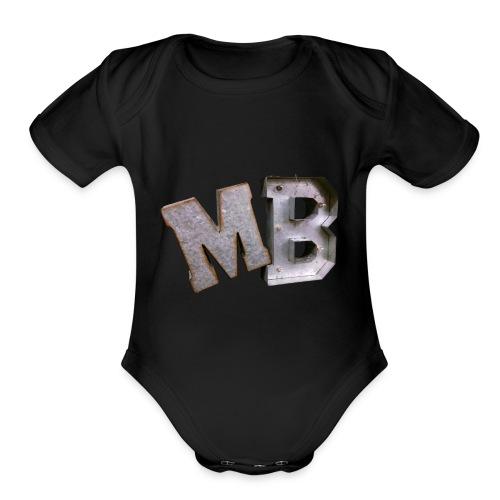 MB logo - Organic Short Sleeve Baby Bodysuit