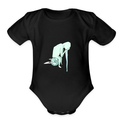 lonely planet - Organic Short Sleeve Baby Bodysuit