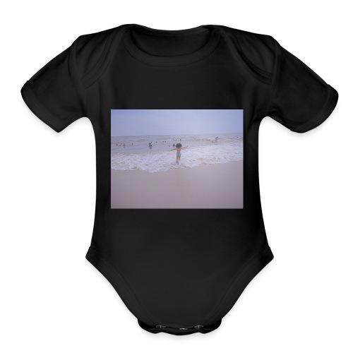 Beach vibes - Organic Short Sleeve Baby Bodysuit