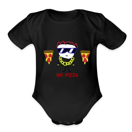 Sunglasses Stick Man - Organic Short Sleeve Baby Bodysuit