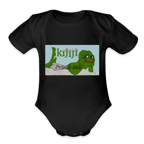 Classic Prank Call Shirt - Organic Short Sleeve Baby Bodysuit