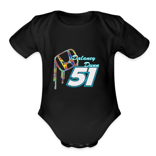Dalaney Dunn Racing Logo - Organic Short Sleeve Baby Bodysuit