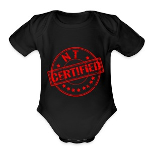 Certified Stamp Design - Short Sleeve Baby Bodysuit