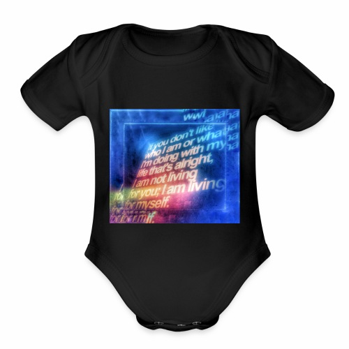 Remember to appreciate people for who they are. - Organic Short Sleeve Baby Bodysuit