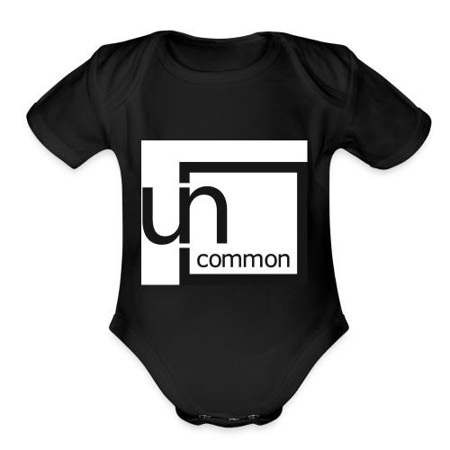Uncommon logo BW - Organic Short Sleeve Baby Bodysuit