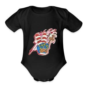 Peace - Short Sleeve Baby Bodysuit
