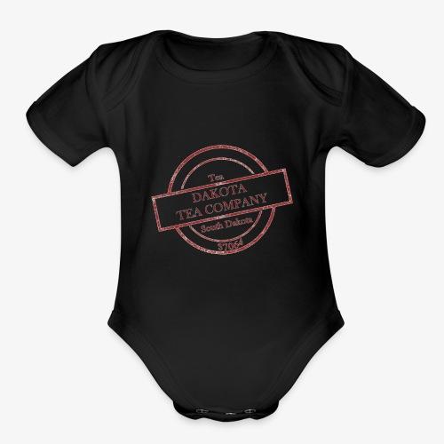 Dakota Tea Company red - Organic Short Sleeve Baby Bodysuit